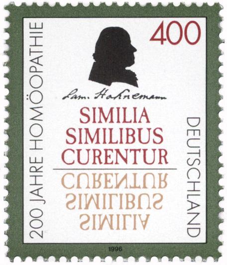 Homöopathie Briefmarke
